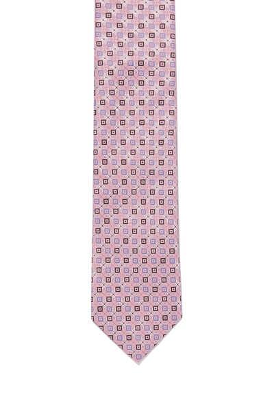 ربطة عنق حرير بنقشة مربعات