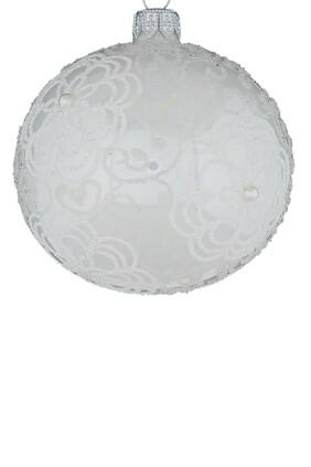 زينة زجاجية على شكل كرة ثلج