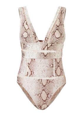 لباس سباحة بيليتيود قطعة واحدة بغرزة السلم