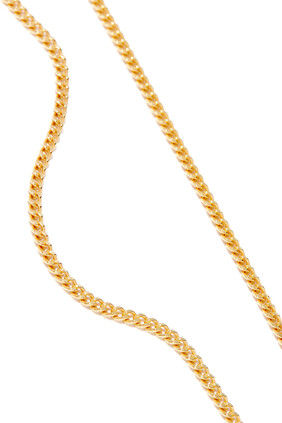 قلادة بسلسلة كوبية مطلية بالذهب