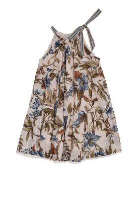 فستان أليان برباط حول الرقبة وطبقات