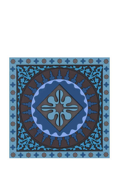IDO S/6 Coaster Mosaic Blue:No Color:One Size