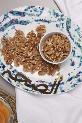 طبق فيروز بيضاوي بحجم متوسط