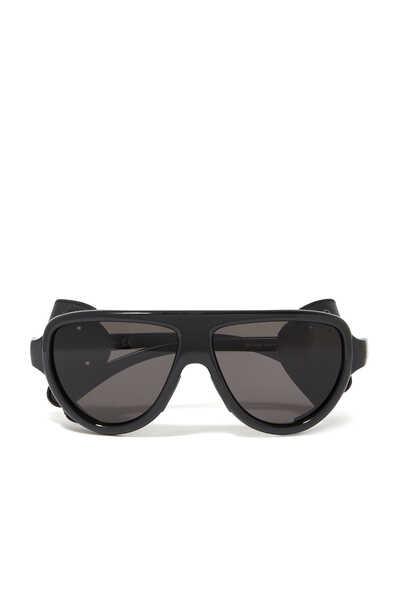 نظارة شمسية أفياتور برقعتين جلد على الجانبين