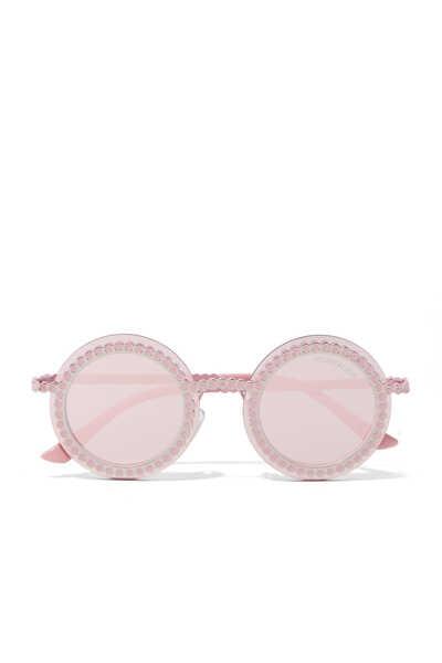 نظارة شمسية بإطار معدني دائري