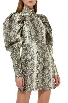 فستان كيم بنقشة جلد الأفعى