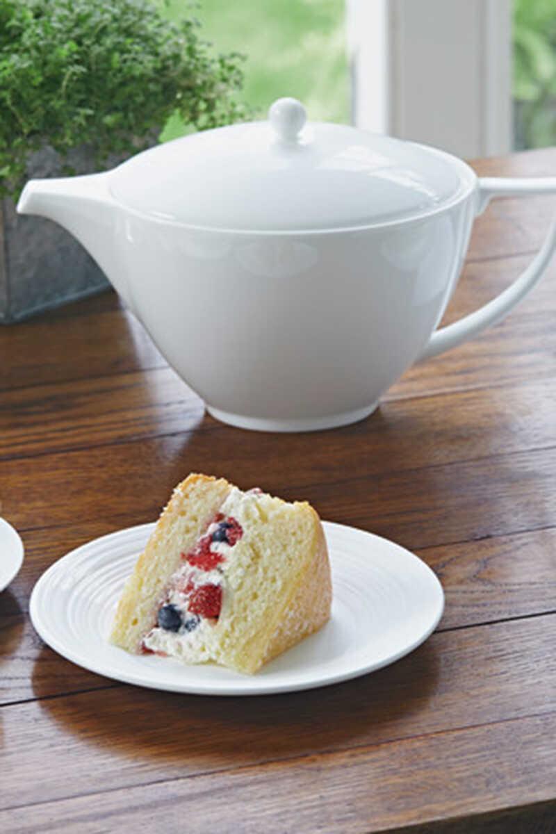 إبريق شاي خزف صيني بتصميم بسيط 1.2 لتر image number 2