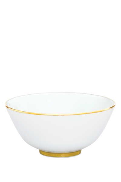وعاء بحافة ذهبية اللون