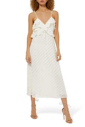 فستان سهل الارتداء بملمس بارز