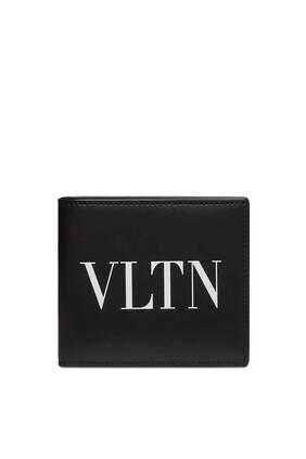 محفظة فالنتينو غارافاني جلد مزينة بشعار VLTN