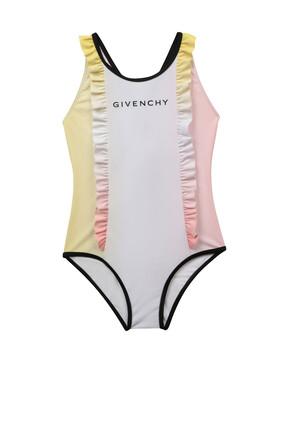 لباس سباحة كشكش بشعار الماركة