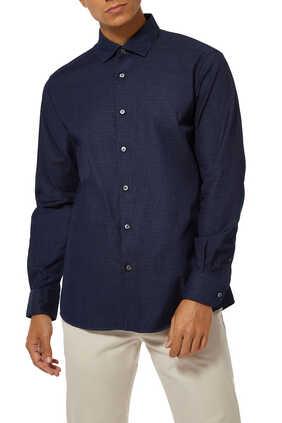 قميص دينم بنقشة هندسية