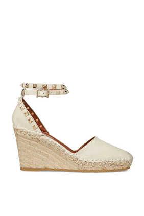 حذاء إسبادريل بكعب ويدج وحلي هرمية