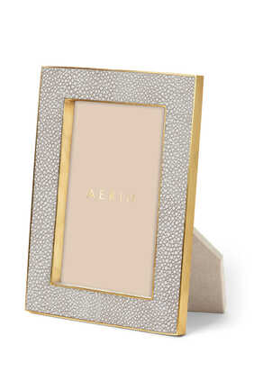 AE Classic Shagreen 4x6 Frame Dove:Multi Colour:One Size