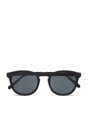 نظارة شمسية إلدريدج 52 بلون أسود غير لامع