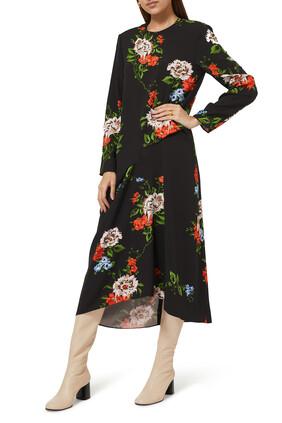 فستان كوين تيس بنقشة الزهور