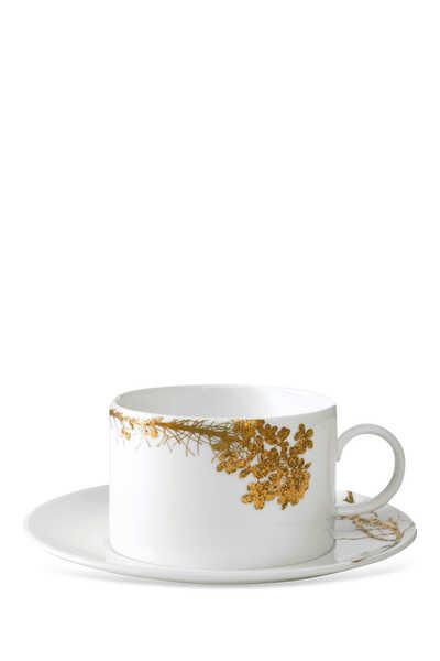 طقم فنجان شاي وطبق جاردن