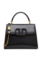 NEW: VSLING TOP HANDLE BAG WITH STRAP AND TONE-ON-TONE LEATHER HARDWARE IN SMOOTH LEATHER