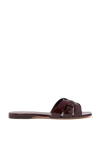 حذاء تريبيوت جلد لامع مفتوح من الخلف