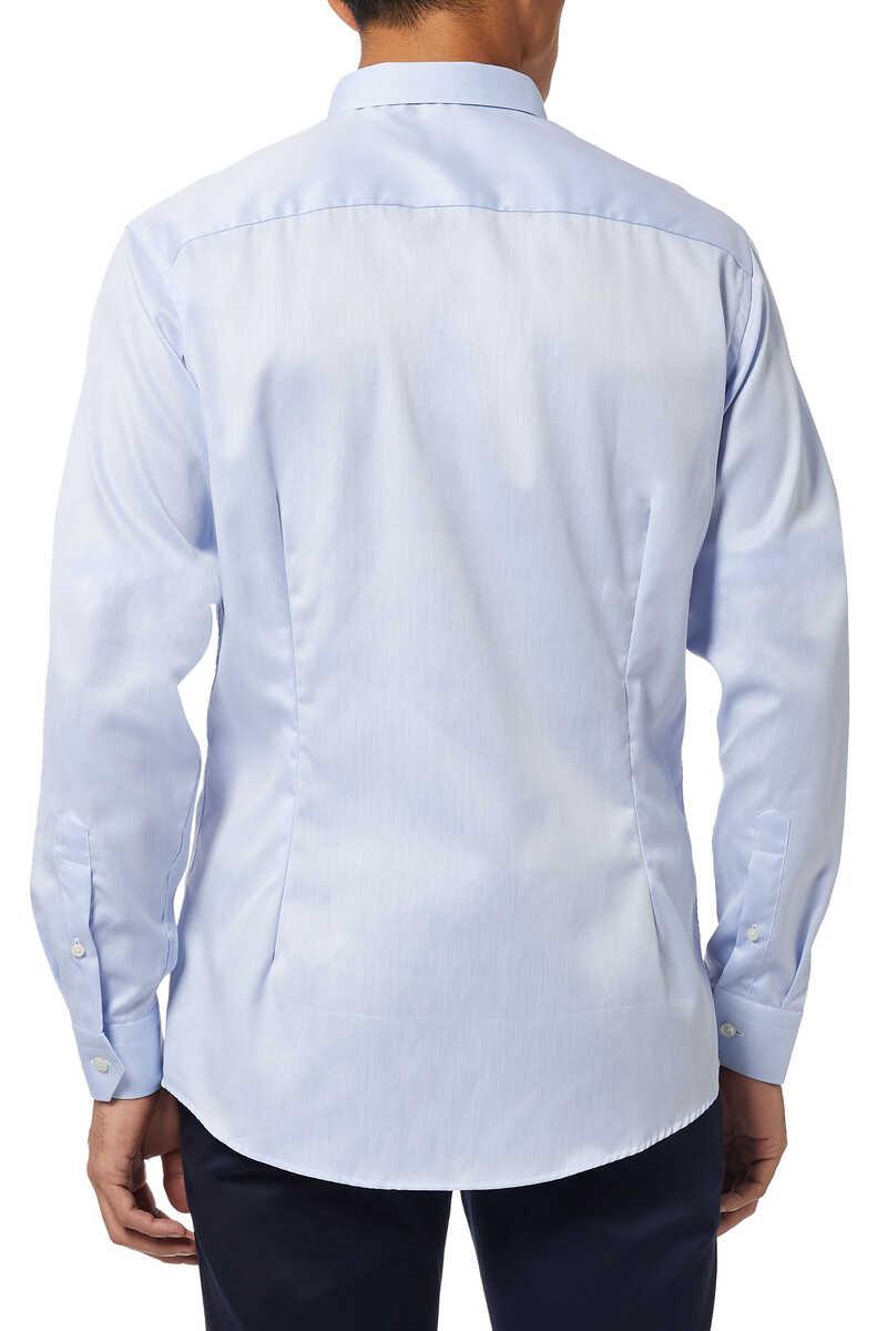 قميص تويل مميز للماركة بقصة ضيقة جدًا image number 3