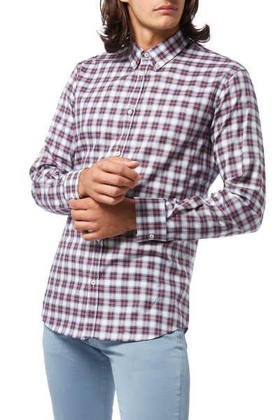 قميص بنقشة مربعات
