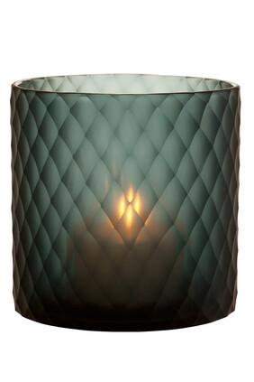 حامل شمعة مورتون زجاج ياقوتي متوسط