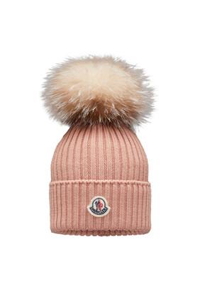 قبعة بيني بكرة بوم بوم فرو